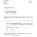 Child Support Letter