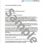 Non Renewal Of Lease Letter