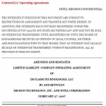 Operating Agreement For Llc Template
