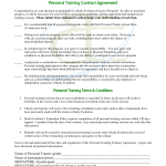 Personal Trainer Contract Agreement
