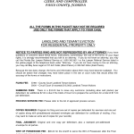 Tenant Eviction Notice Form