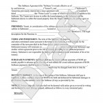 Apartment Sublease Agreement Template