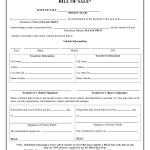 Bill Of Sale Automobile