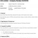 Company Minutes