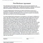 Disclosure Agreement Form