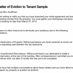 Eviction Letters For Tenants