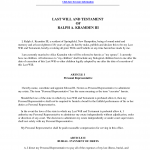 Final Will And Testament Template