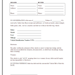 Free Auto Bill Of Sale Form