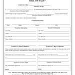 Free Vehicle Bill Of Sale Form