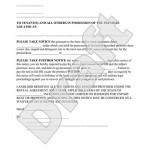 Landlord Eviction Notice Form