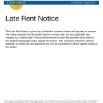 Late Notice For Rent