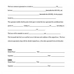 Lease Agreements Forms