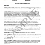 Membership Agreement Sample