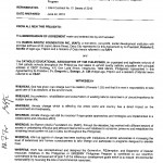 Memorandum Of Agreement