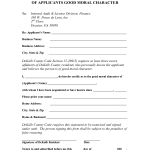 Moral Character Affidavit Sample