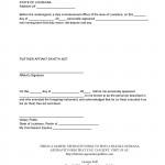 Notarized Affidavit Template