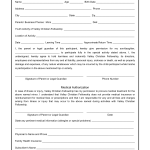 Parent Medical Consent Form