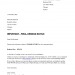 Payment Demand Letter Template