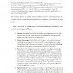 Recording Agreement