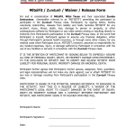 Release Waiver Form Template