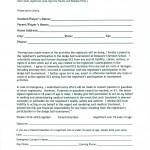Release Waiver Template