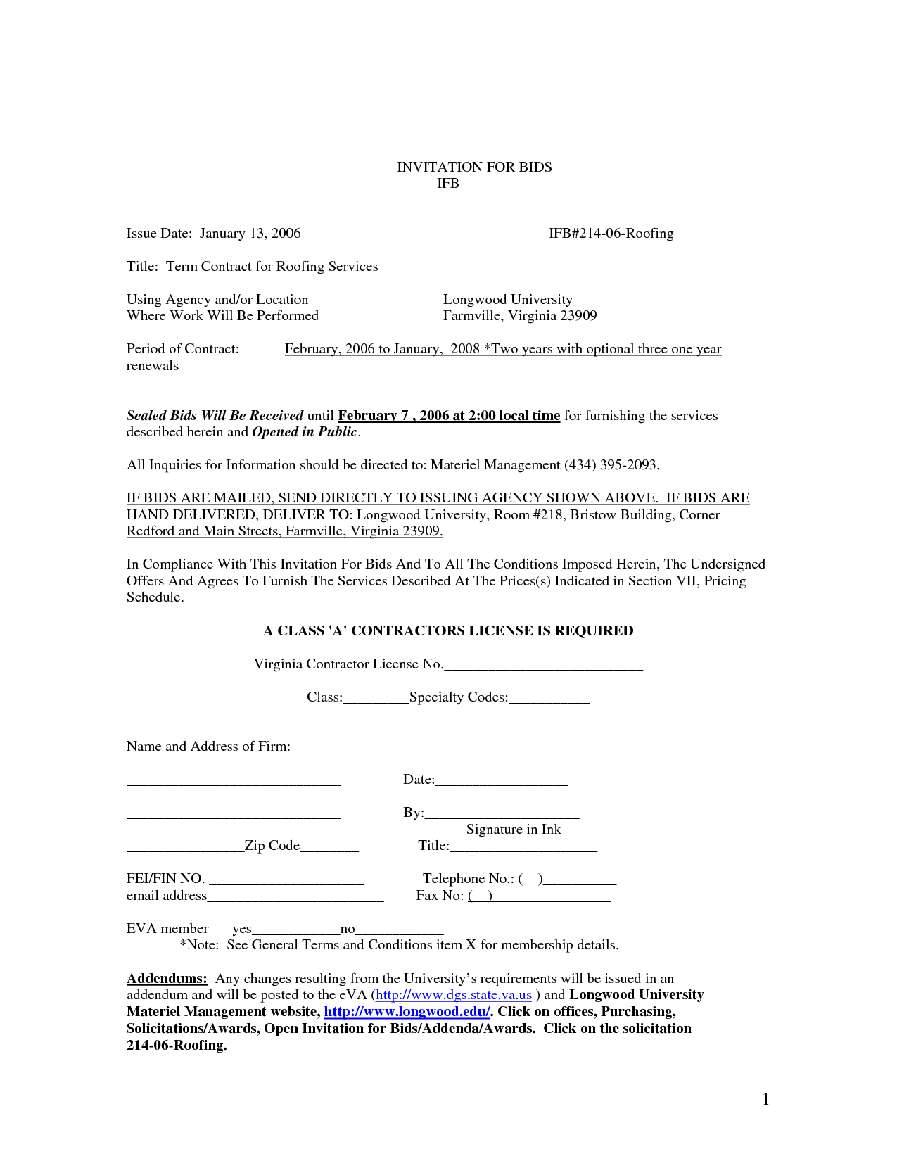Roofing Contract Template Free Printable Documents