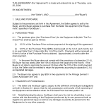 Sale Agreement Template