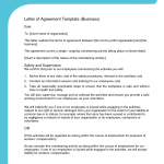 Sample Letter Of Agreement Template