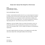 Sample Rent Increase Letter To Tenant