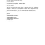 Wage Verification Letter