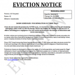 72 Hour Eviction Notice