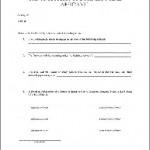 Affidavit Form