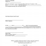 Affidavit Form Sample