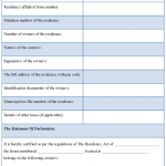 Affidavit Of Residency Form