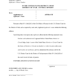 Affidavit Sample