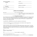 Affidavit Templates