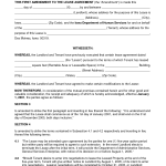 Amendment To Lease Agreement