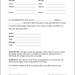 Auto Bill Of Sale Form
