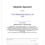 Babysitting Contract