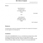 Bill Of Sale - Sample