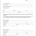 Bill Of Sell Form