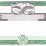 Blank Stock Certificate