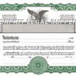 Blank Stock Certificates