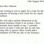 Business Loan Letter Sample