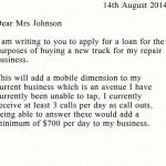 Business Loan Request Letter