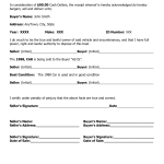 Car Bill Of Sale Form