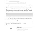 Character Affidavit Form