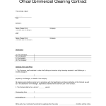 Cleaning Contract Sample