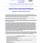 Computer Maintenance Contract Sample