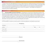 Confidentiality Agreement Forms